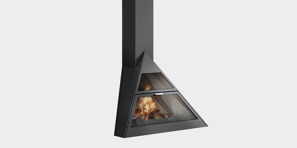 Traforart Corner Fireplaces Admeto Wall Mounted